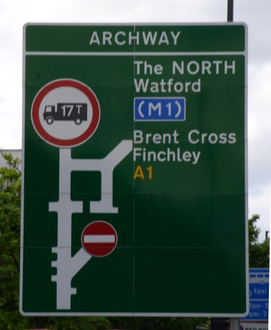 Archway_roundabout_road_sign