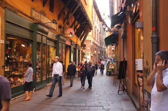 People shopping in Bologna