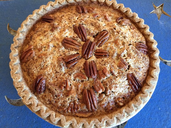 Lyle syrup and honey pecan pie