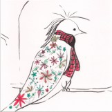 and the Christmas bird is adorable