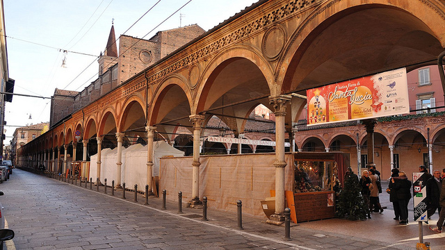 The beautiful arches under which St. Lucy's market takes place
