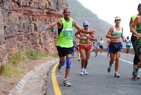 My pall Willie Engelbrecht flying his way up the side of a mountain during the Two Oceans Ultra-Marathon