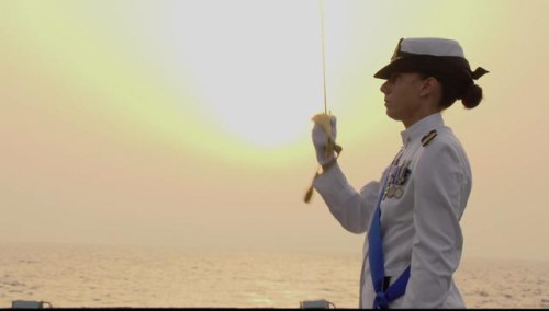 The Italian Navy is very proud of its first female captain
