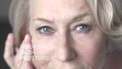 An image from Helen Mirren's campaign from L'Oreal, wholly unretouched