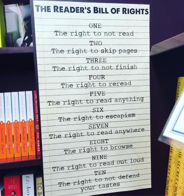 readers bill of rights