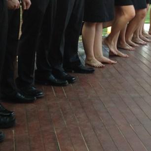 Austin Wedding Ceremony with Foot Jewels