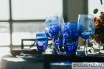 Blue Glassware at Chelsea Piers