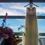 Dress hanging in Chelsea Piers Loft