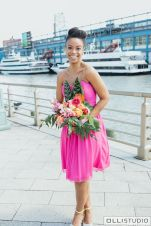 Chelsea Piers Bridesmaid with Tropical Bouquet