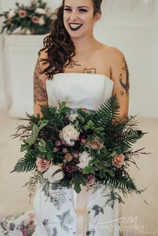 Non Traditional Bride at Altar