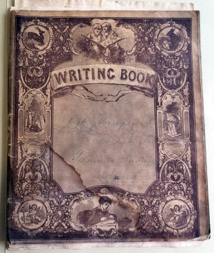 """Writing Book"" belonging to Hugh Campbell, ca. 1860"