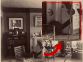 These battle axes likely belonged to James Campbell and are pictured here in his rooms at the Campbell House ca. 1885.