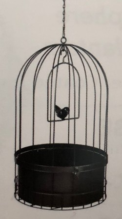 Bird Cage Hanging Basket with Metal Liner2