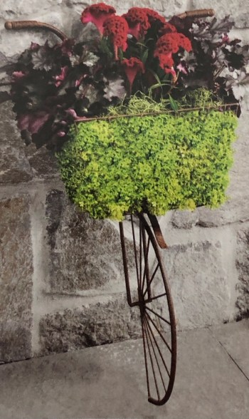 Half Bicycle Wall Planter