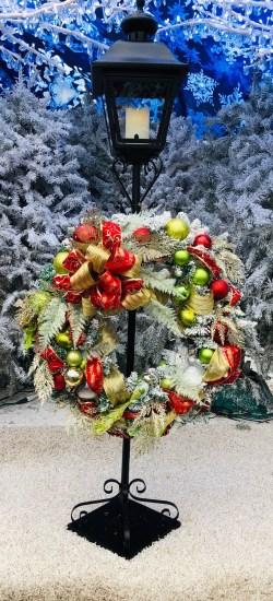 Lantern Stand Wreath Hanger