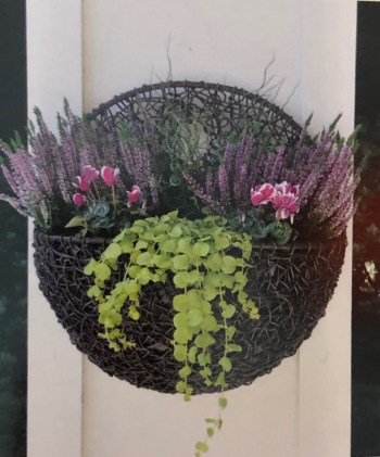 Twisted Poly Weave Wall Planter