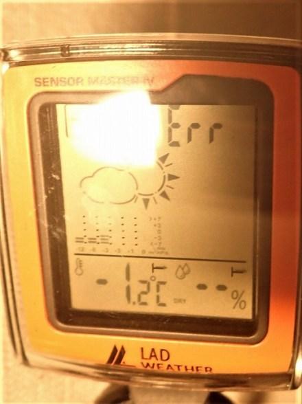 北海道 冬 車中泊 室温