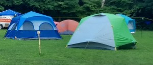 Tents are part of camping.