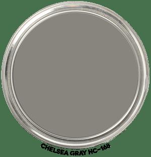 Chelsea Gray HC-168 by Benjamin Moore Paint Blob