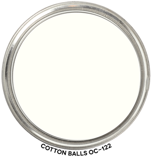Cotton Balls OC-122 by Benjamin Moore Paint Blob