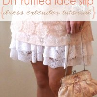 Old Slip Gets A Lacy Double Ruffle Hem {dress extender tutorial}