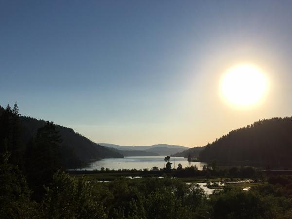 Camp Coeur D'Alene Idaho Sunset