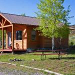 Cozy Cabin camping option at Blue Mesa Escape, west of Gunnison Colorado