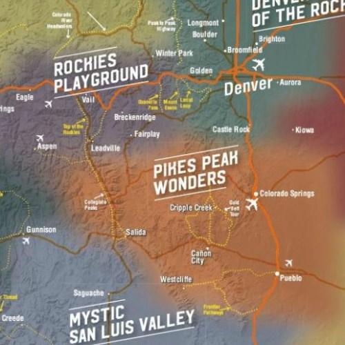 8 Tourism regions of Colorado (by CTO)