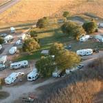 Bird's-eye view of Falcon Meadow RV Campground in the fall (near Colorado Springs)