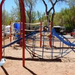 Garden of the Gods RV Resort, in Colorado Springs, has a great play area for kids!