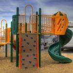 Playtime at the playground at Junction West RV Park (Grand Junction Colorado)
