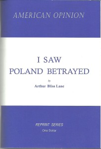 I Saw Poland Betrayed by Arthur Bliss Lane