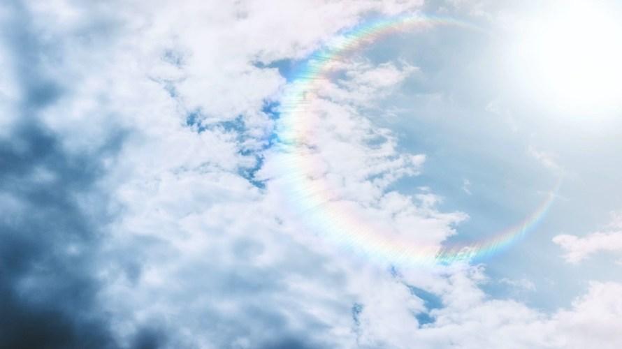 三重の虹が出現!その意味とは