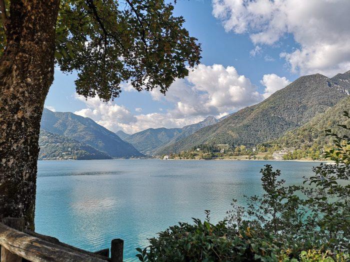 Blick auf den Lago di Ledro von Molina di Ledro