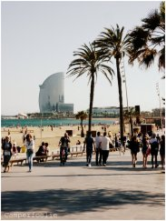 Walking the boulevard near the beach