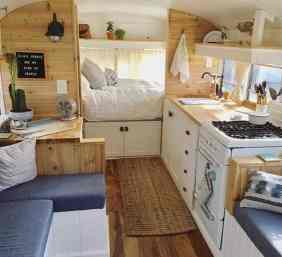 Vintage Camper Interior 1