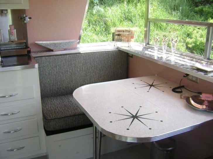 Vintage Camper Interior 46