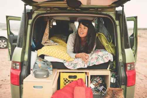 Honda Element Camping 37