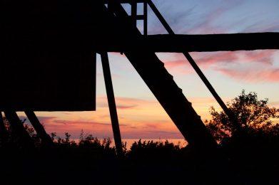 Windmühlen-Schattenspiel