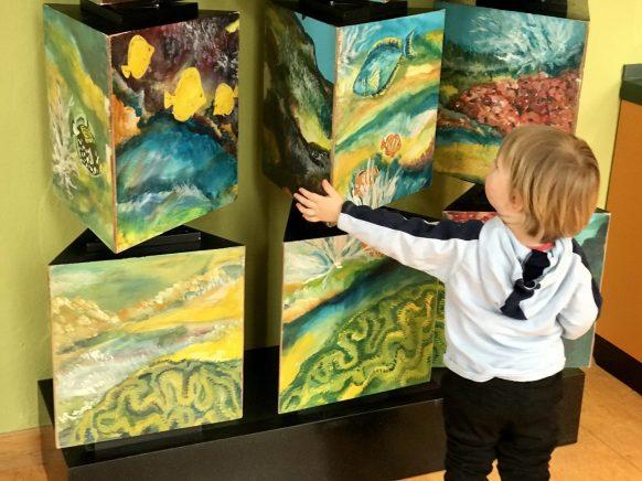 Tolles museumspädagogisches Konzept: überall gibt es etwas zu erkunden