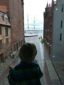 Merlin schaut auf die Gorch Fock - das Ozeaneum Stralsund steckt voller Überraschungen!