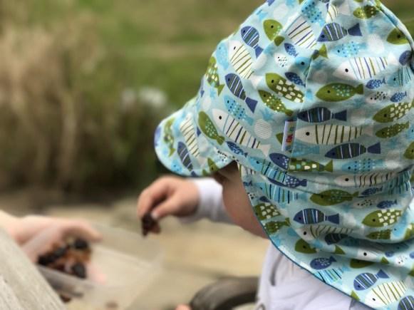 Merlins Cap mit Sonnenschutz im Nacken