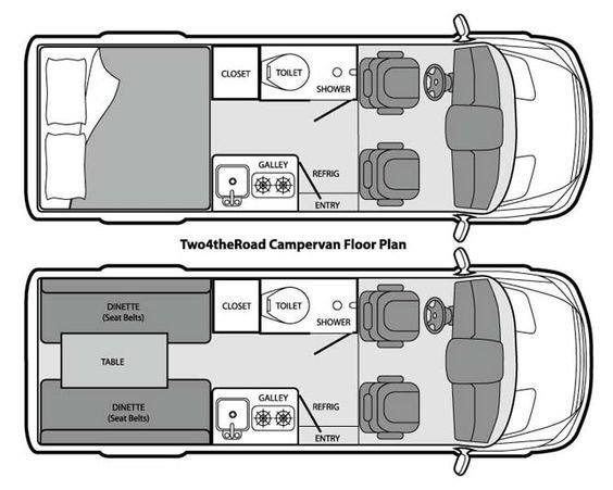 15+ Camper Van layout design