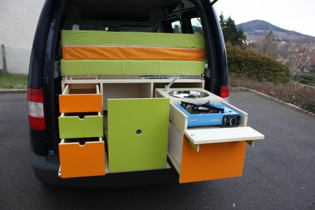 18 Slidepods VW Camper Kitchen