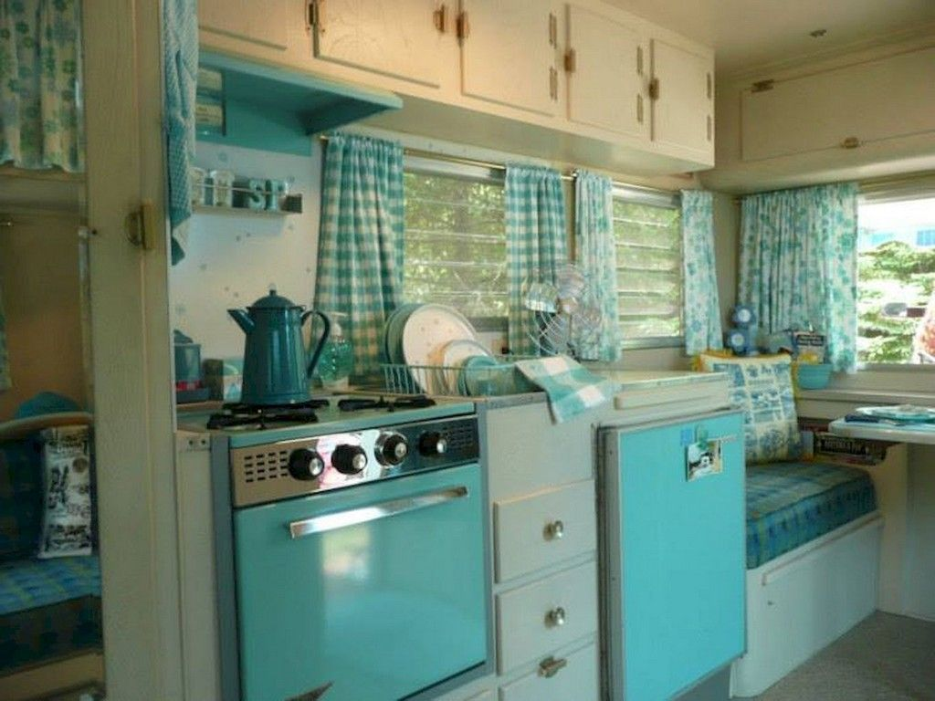 19 Beautiful Creative RV Camper Interior Renovations Ideas