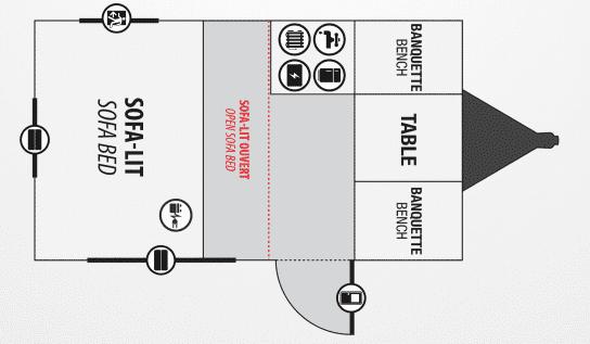 Roulottes Prolite Floor Plan