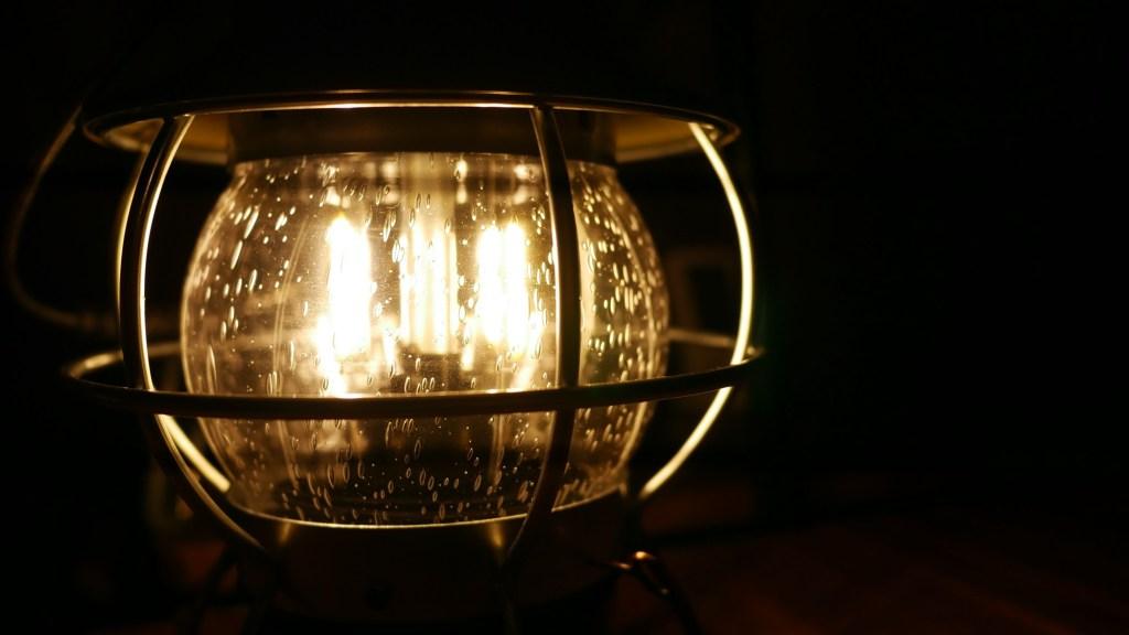 ベアボーンズ レイルロードランタンLED気泡グローブ点灯