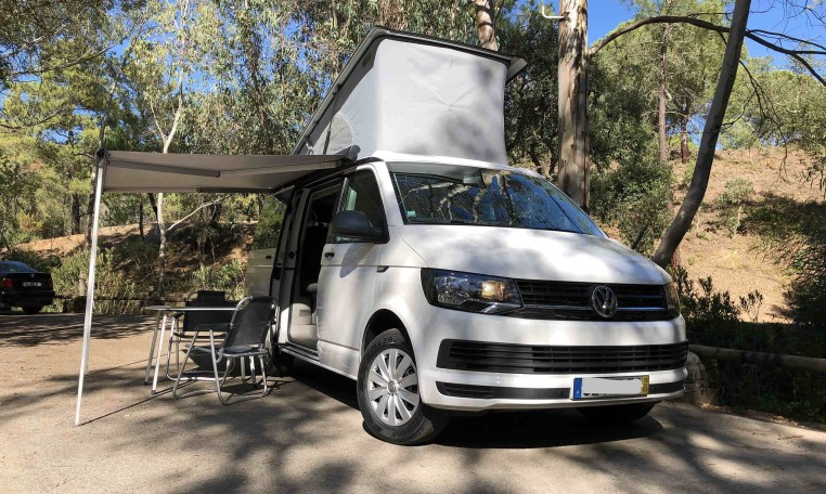 2019 VW California Coast for sale, front right.