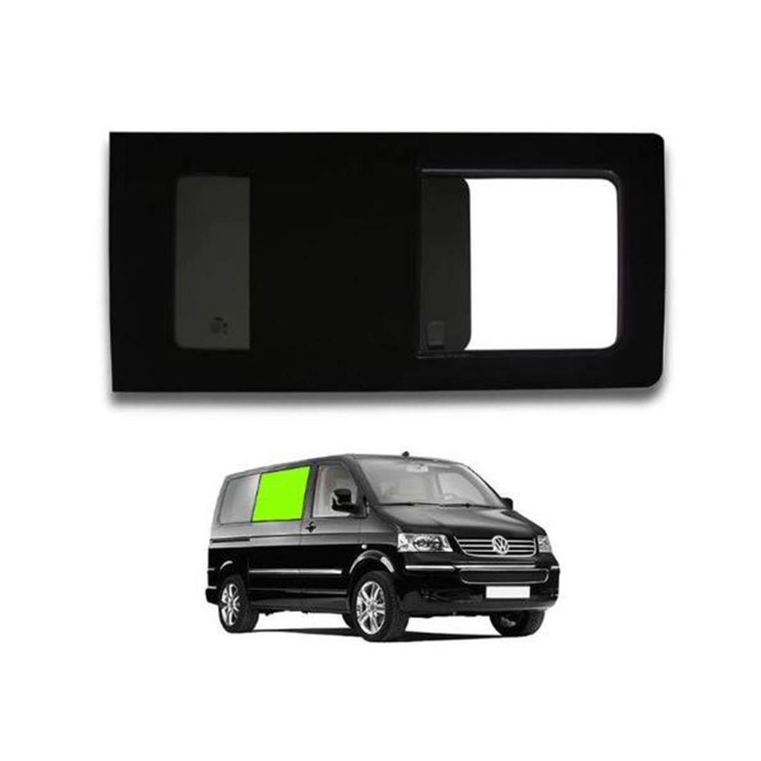 Right opening window for a VW T5 & T6.