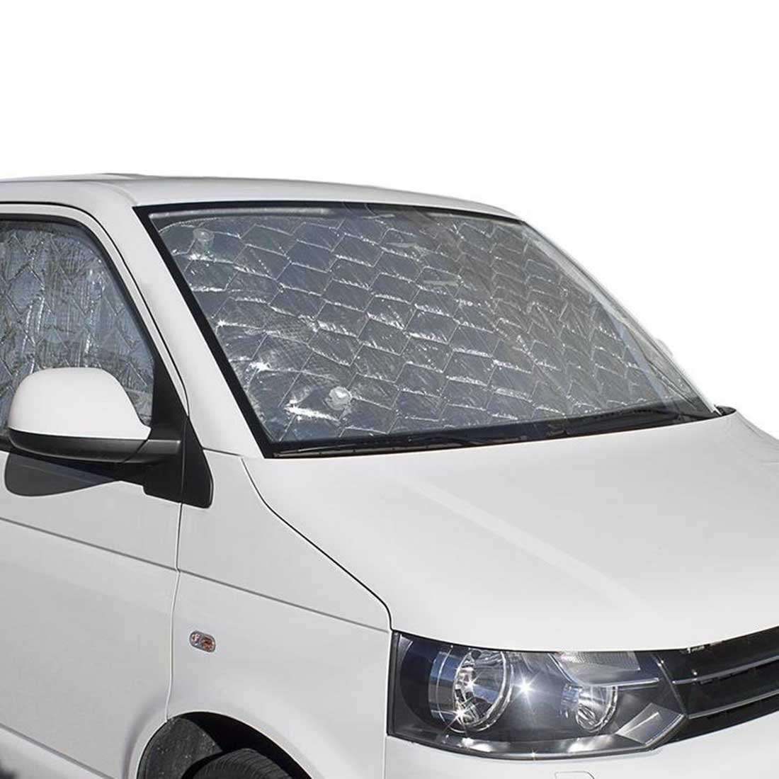 VW T6 cab window silver screens.